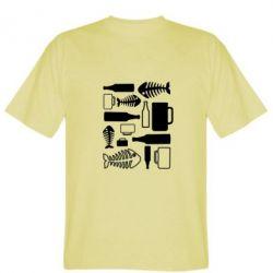 Мужская футболка Пиво и рыбка - FatLine