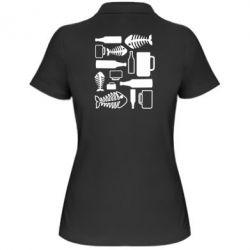 Женская футболка поло Пиво и рыбка - FatLine