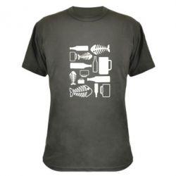 Камуфляжная футболка Пиво и рыбка - FatLine