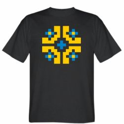 Мужская футболка Pixel pattern blue and yellow
