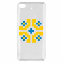 Чехол для Xiaomi Mi 5s Pixel pattern blue and yellow