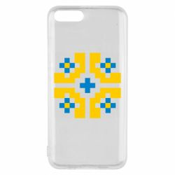 Чехол для Xiaomi Mi6 Pixel pattern blue and yellow