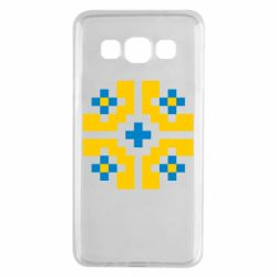 Чехол для Samsung A3 2015 Pixel pattern blue and yellow