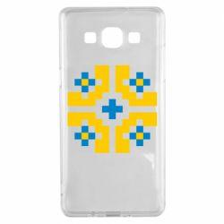 Чехол для Samsung A5 2015 Pixel pattern blue and yellow