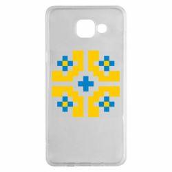 Чехол для Samsung A5 2016 Pixel pattern blue and yellow
