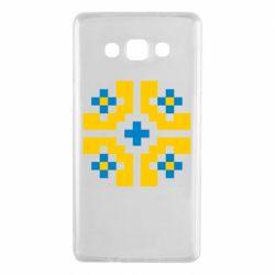 Чехол для Samsung A7 2015 Pixel pattern blue and yellow