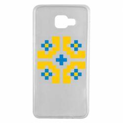 Чехол для Samsung A7 2016 Pixel pattern blue and yellow
