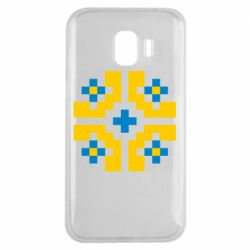 Чехол для Samsung J2 2018 Pixel pattern blue and yellow
