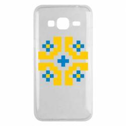 Чехол для Samsung J3 2016 Pixel pattern blue and yellow