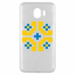 Чехол для Samsung J4 Pixel pattern blue and yellow