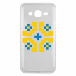 Чехол для Samsung J5 2015 Pixel pattern blue and yellow