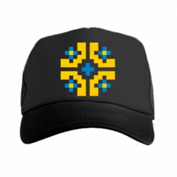 Кепка-тракер Pixel pattern blue and yellow