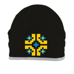 Шапка Pixel pattern blue and yellow