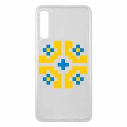 Чехол для Samsung A7 2018 Pixel pattern blue and yellow