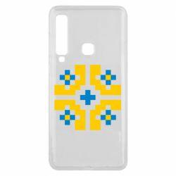 Чехол для Samsung A9 2018 Pixel pattern blue and yellow