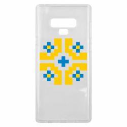 Чехол для Samsung Note 9 Pixel pattern blue and yellow