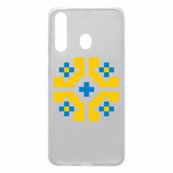 Чехол для Samsung A60 Pixel pattern blue and yellow