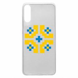 Чехол для Samsung A70 Pixel pattern blue and yellow