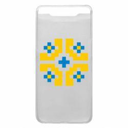 Чехол для Samsung A80 Pixel pattern blue and yellow