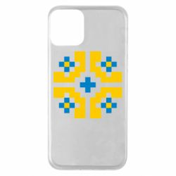 Чехол для iPhone 11 Pixel pattern blue and yellow