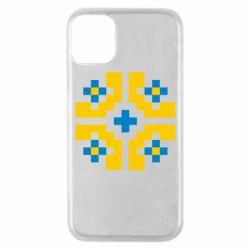Чехол для iPhone 11 Pro Pixel pattern blue and yellow