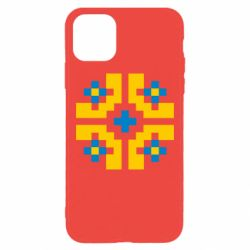 Чехол для iPhone 11 Pro Max Pixel pattern blue and yellow