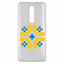 Чехол для Xiaomi Mi9T Pixel pattern blue and yellow