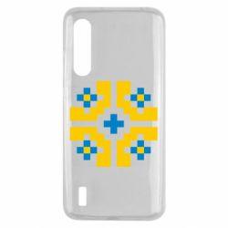 Чехол для Xiaomi Mi9 Lite Pixel pattern blue and yellow