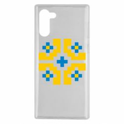 Чехол для Samsung Note 10 Pixel pattern blue and yellow