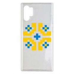 Чехол для Samsung Note 10 Plus Pixel pattern blue and yellow