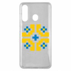 Чехол для Samsung M40 Pixel pattern blue and yellow