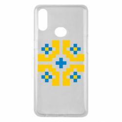 Чехол для Samsung A10s Pixel pattern blue and yellow