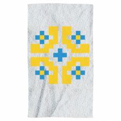 Полотенце Pixel pattern blue and yellow