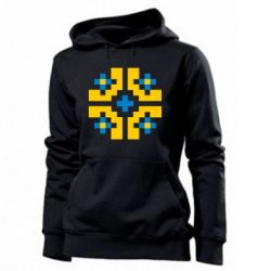 Женская толстовка Pixel pattern blue and yellow