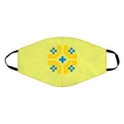 Маска для лица Pixel pattern blue and yellow