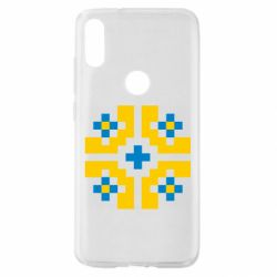 Чехол для Xiaomi Mi Play Pixel pattern blue and yellow