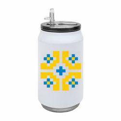 Термобанка 350ml Pixel pattern blue and yellow