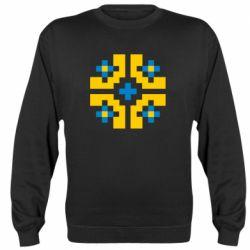 Реглан (свитшот) Pixel pattern blue and yellow