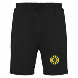 Мужские шорты Pixel pattern blue and yellow