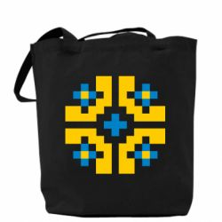 Сумка Pixel pattern blue and yellow