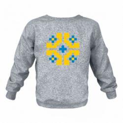 Детский реглан (свитшот) Pixel pattern blue and yellow