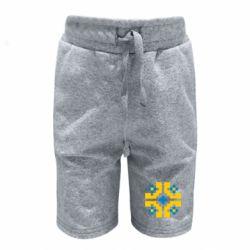 Детские шорты Pixel pattern blue and yellow