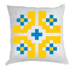 Подушка Pixel pattern blue and yellow