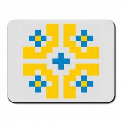 Коврик для мыши Pixel pattern blue and yellow