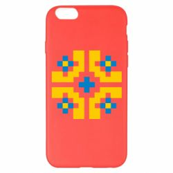 Чехол для iPhone 6 Plus/6S Plus Pixel pattern blue and yellow