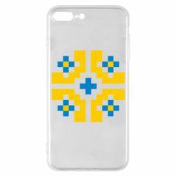 Чехол для iPhone 7 Plus Pixel pattern blue and yellow