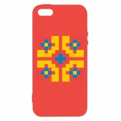 Чехол для iPhone5/5S/SE Pixel pattern blue and yellow