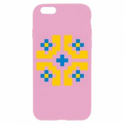 Чехол для iPhone 6/6S Pixel pattern blue and yellow