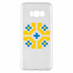Чехол для Samsung S8 Pixel pattern blue and yellow