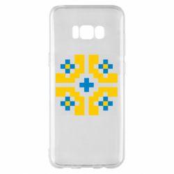 Чехол для Samsung S8+ Pixel pattern blue and yellow